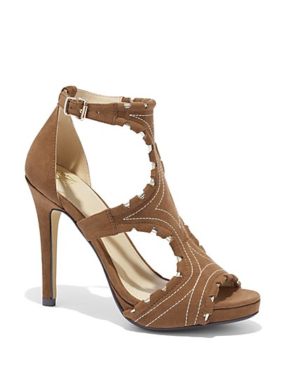 Cutout Faux-Leather Sandal - New York & Company