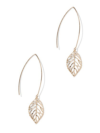 Cutout Leaf Drop Earring  - New York & Company