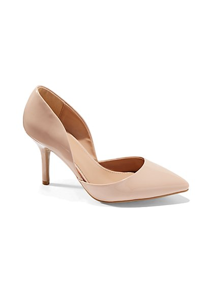 D'Orsay Faux-Leather Pump  - New York & Company
