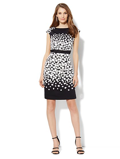 Daisy-Print Sheath