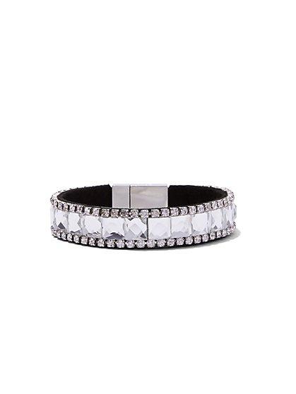 Dazzling Braided Cuff Bracelet  - New York & Company