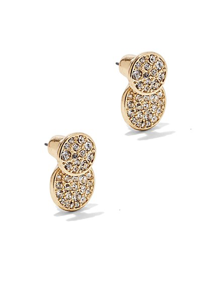 Dazzling Double-Disc Post Earring  - New York & Company