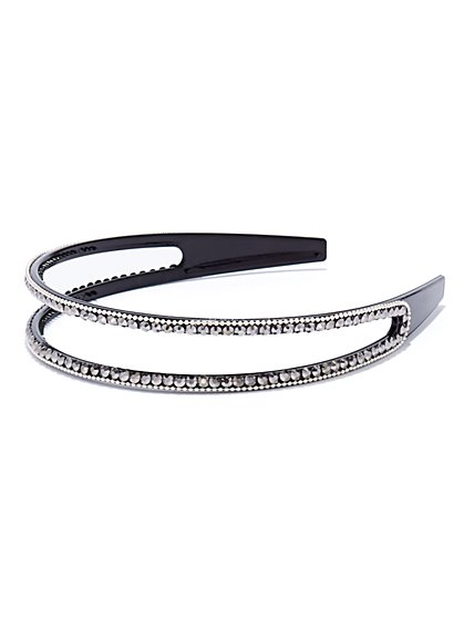Dazzling Double-Row Headband - New York & Company
