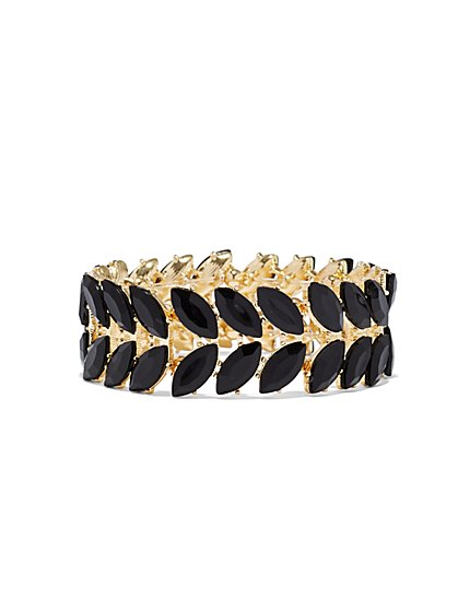Dazzling Faux-Stone Stretch Bracelet - New York & Company