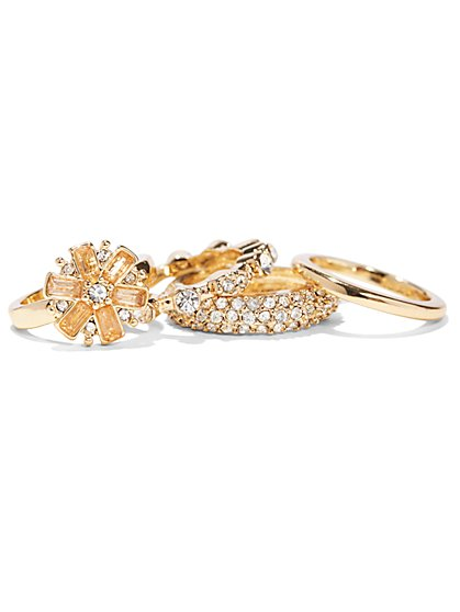 Dazzling Four-Piece Ring Set  - New York & Company