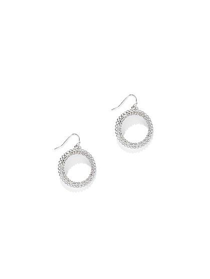 Dazzling Hoop Drop Earring  - New York & Company