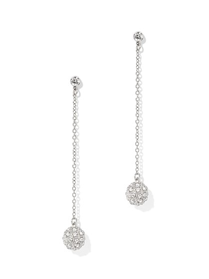 Dazzling Spherical Accent Linear Drop Earring  - New York & Company