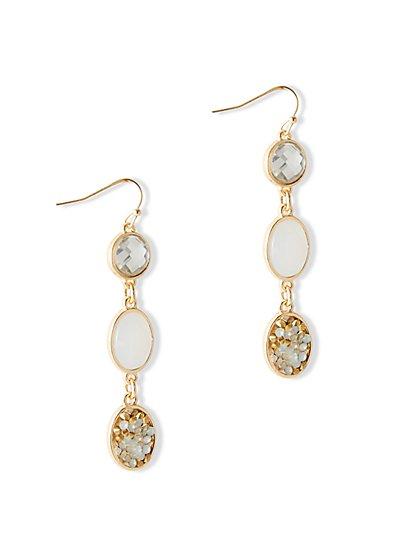 Dazzling Triple-Drop Earring  - New York & Company