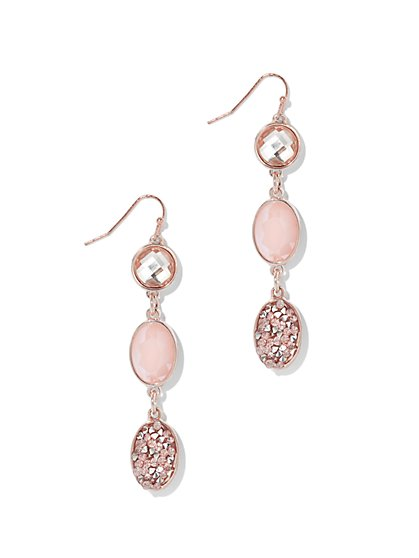 Dazzling Triple-Drop Earring  - New York & Company