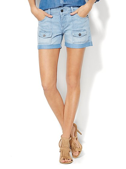 Denim Cargo Short - Diamond Blue Wash  - New York & Company