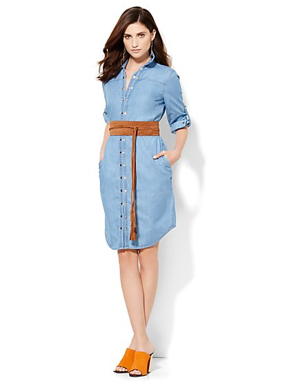 Denim Shirtdress  - New York & Company