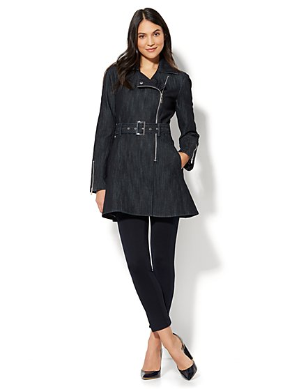Denim Trench Coat - New York & Company