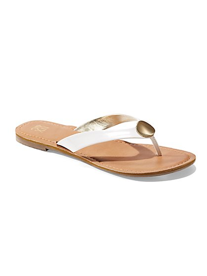 Disc-Accent Flip-Flop Sandal  - New York & Company