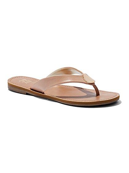 Disc-Accent Flip-Flop Sandal  - New York & Company