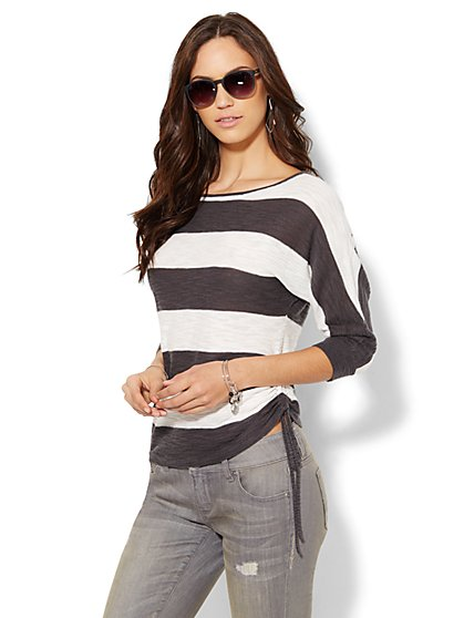 Dolman Boatneck Sweater - Stripe - New York & Company