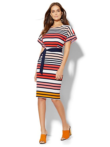 Dolman Dress - Stripe - New York & Company