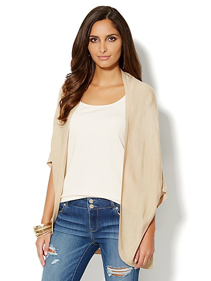 Dolman-Sleeve Cocoon Cardigan  - New York & Company