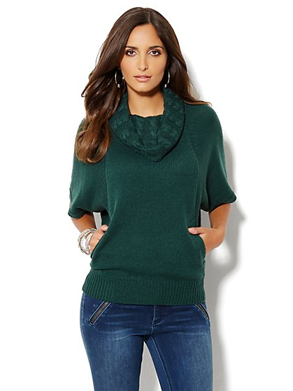 Dolman-Sleeve Cowl-Neck Tunic - New York & Company