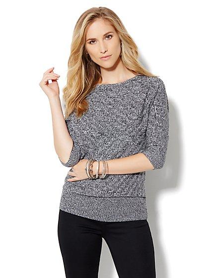 Dolman-Sleeve Marled Sweater - New York & Company