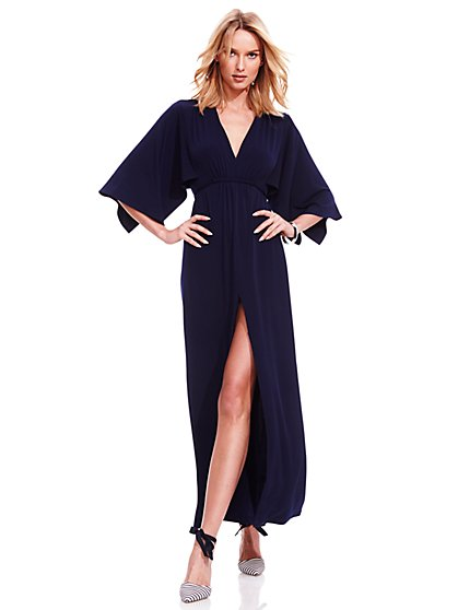 Dolman-Sleeve Maxi Dress - Petite  - New York & Company