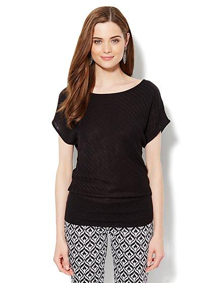 Dolman-Sleeve Pullover Sweater