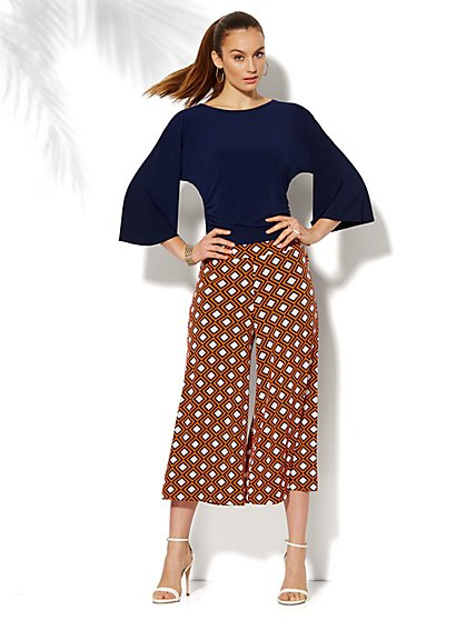 Dolman-Sleeve Shirred Top - New York & Company