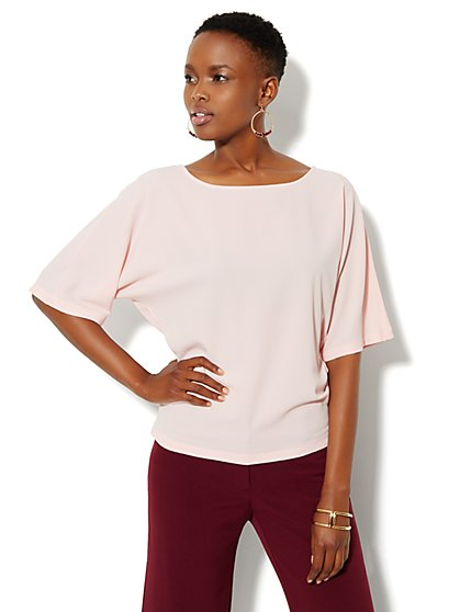 Dolman-Sleeve Smocked Blouse - New York & Company