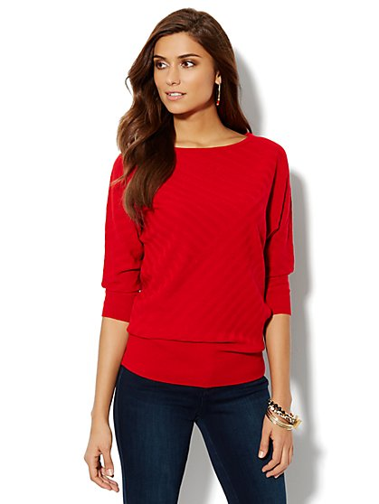 Dolman-Sleeve Sweater - New York & Company