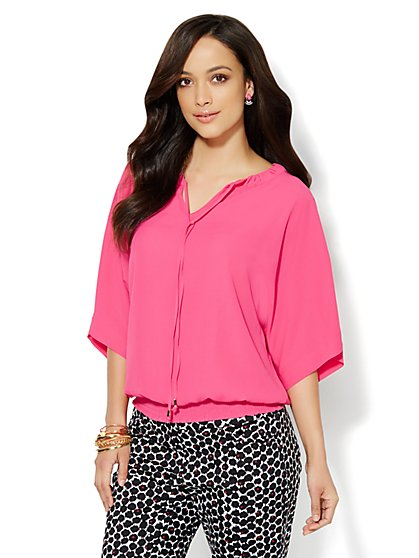 Dolman Soft Peasant Blouse - New York & Company