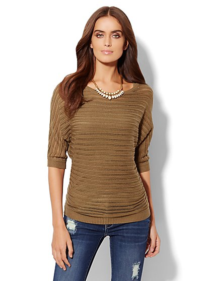 Dolman Tie-Back Sweater  - New York & Company