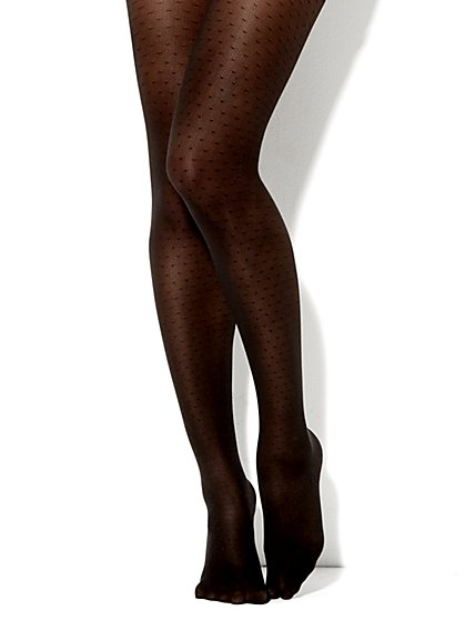 Dot Pattern Tights - New York & Company