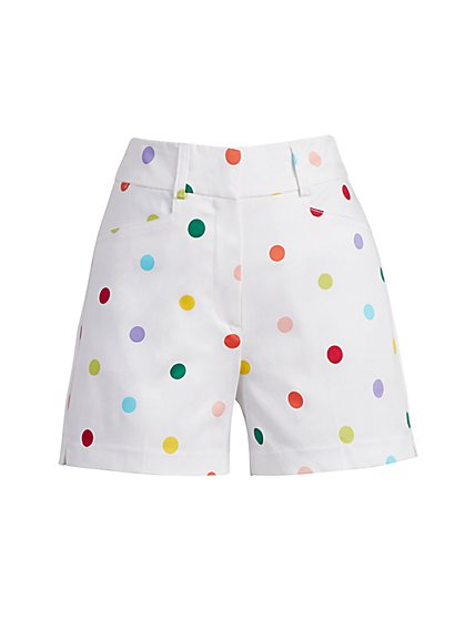 Dot-Print 4-Inch Structured Short - New York & Company