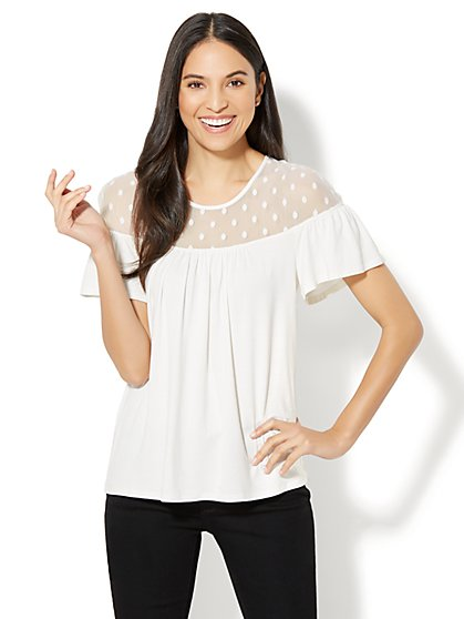 Dotted Illusion Top - New York & Company