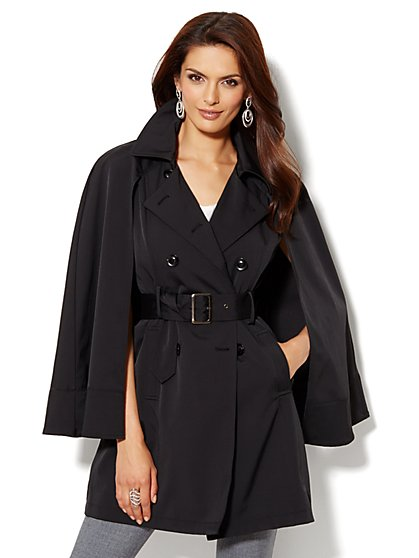 Double-Breasted Cape Trench - New York & Company