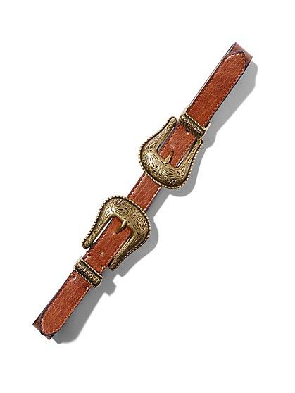 Double-Buckle Belt  - New York & Company