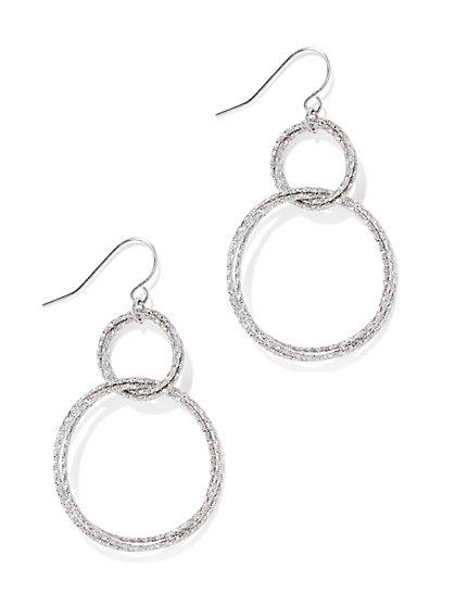 Double-Circle Drop Earring  - New York & Company