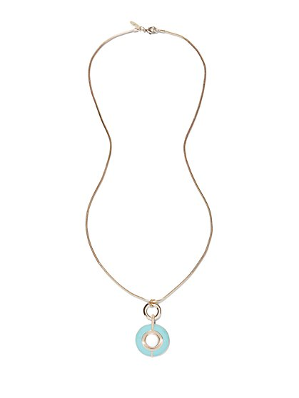 Double-Circle Pendant Necklace  - New York & Company