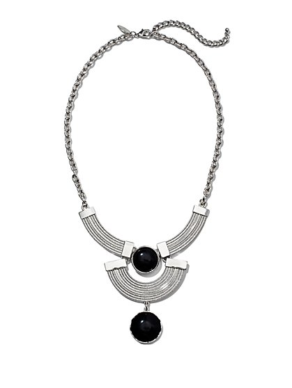 Double-Drop Pendant Necklace  - New York & Company