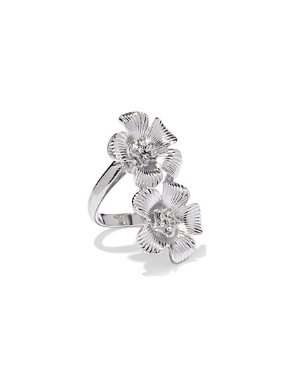 Double Flower Ring  - New York & Company