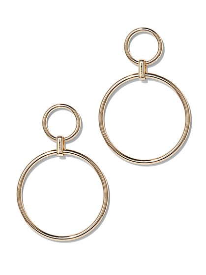 Double-Hoop Drop Earring  - New York & Company