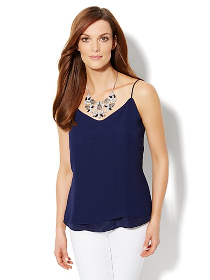 Double-Layer Chiffon Cami - New York & Company