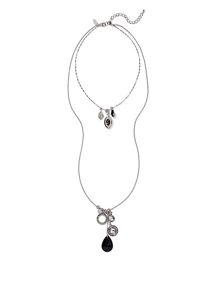 Double-Layer Pendant Necklace  - New York & Company