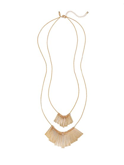 Double Linear Pendant Necklace  - New York & Company