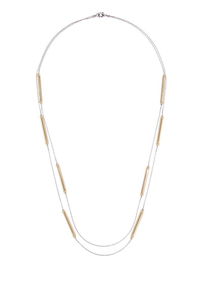 Double-Row Bar Accent Necklace  - New York & Company