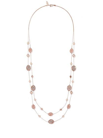 Double-Row Beaded Necklace  - New York & Company