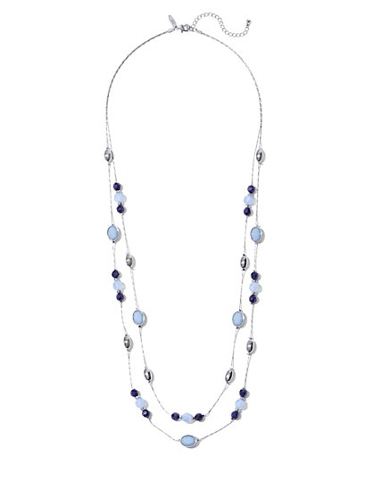 Double-Row Beaded Necklace  - New York & Company