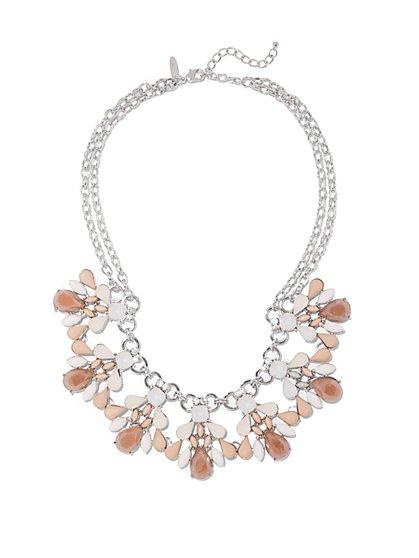 Double-Row Bib Necklace  - New York & Company