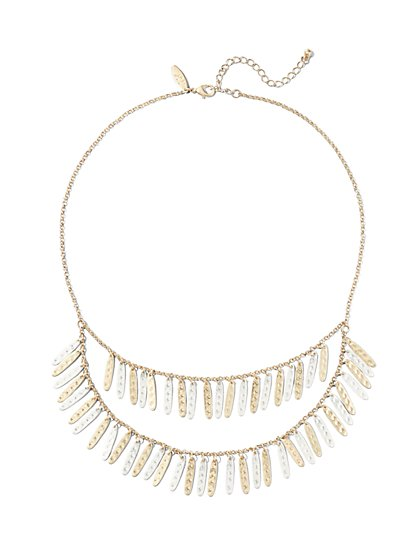 Double-Row Bib Necklace  - New York & Company