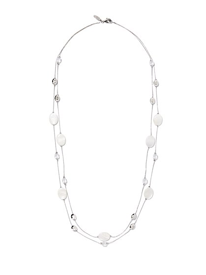 Double-Row Disc Necklace  - New York & Company