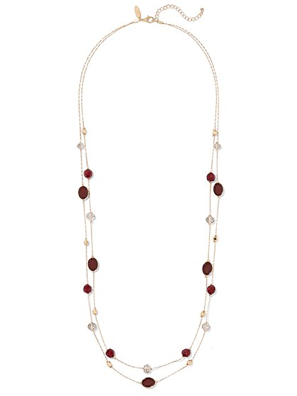 Double-Row Embellished Necklace  - New York & Company